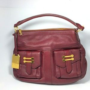 Ralph Lauren Vintage Burgundy Leather Handbag